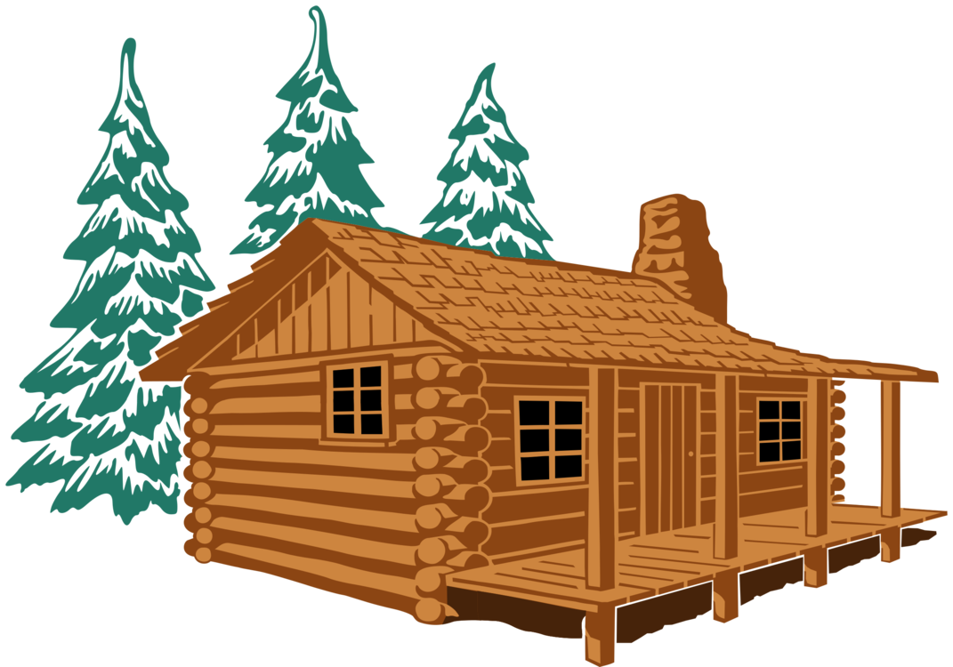 Shack drawing clip art. Log cabin house cottage