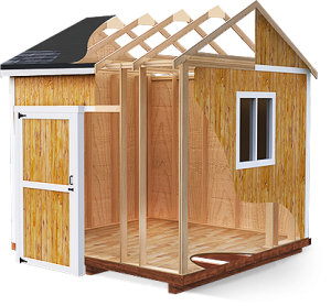 Shack drawing garden shed. Free storage plans