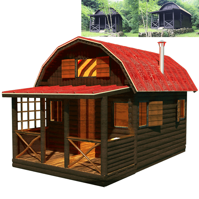 Shack drawing little cabin. Family tiny house plans