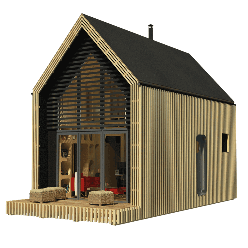Shack drawing little cabin. Modern tiny house plans