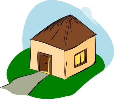 Black and white house. Shack drawing nipa hut vector library stock