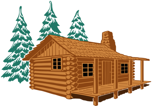Hut house computer shed. Cottage vector mountain cabin clipart