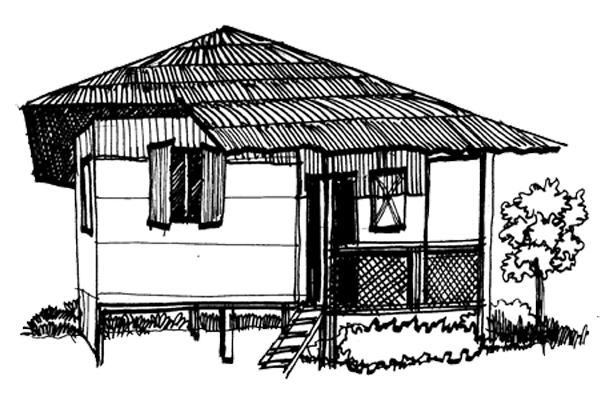 Shack drawing nipa hut. Media gallery filename