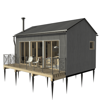 Shack drawing poor house. One room cottage plans