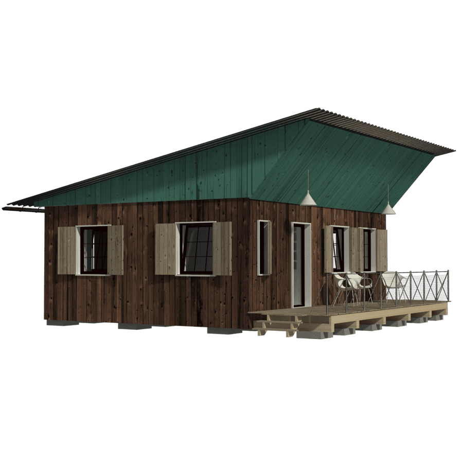 Shack drawing poor house. Forest cabin plans small