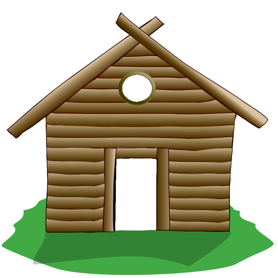 Cottage vector mountain cabin. Collection of free cottaged