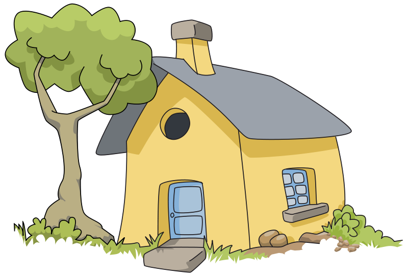 Shack drawing thatched house. Collection of free cottaged
