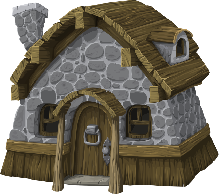 Shack vector cartoon. Hut house cottage computer