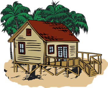 Shack vector old home. Clipart kutcha house free