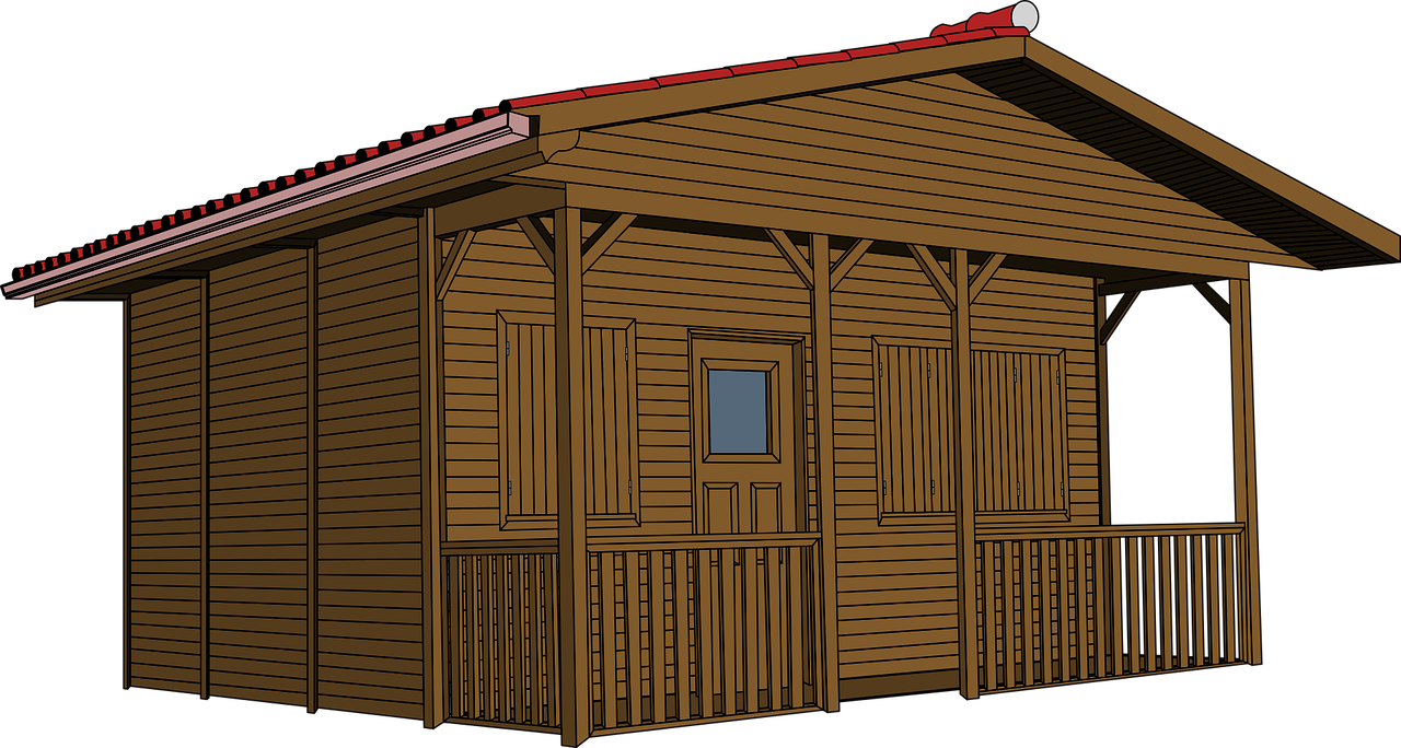 Shack vector old home. House log simple wood