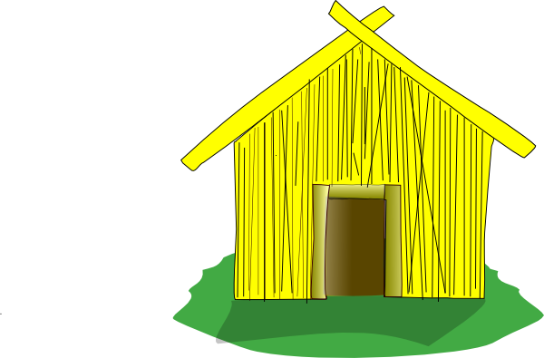 Shack vector straw house. Clip art at clker