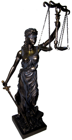 Shackled greek titan hyperion bronzed statue png. Justitia themis goddess of