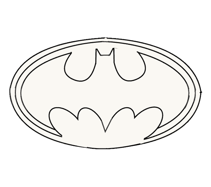 Shade drawing batman. How to draw logo