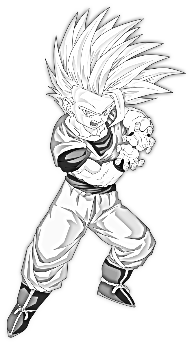 Shade drawing goku. Super saiyan at getdrawings