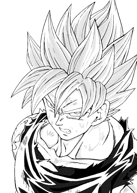 Shade drawing goku. Super saiyan by shinta