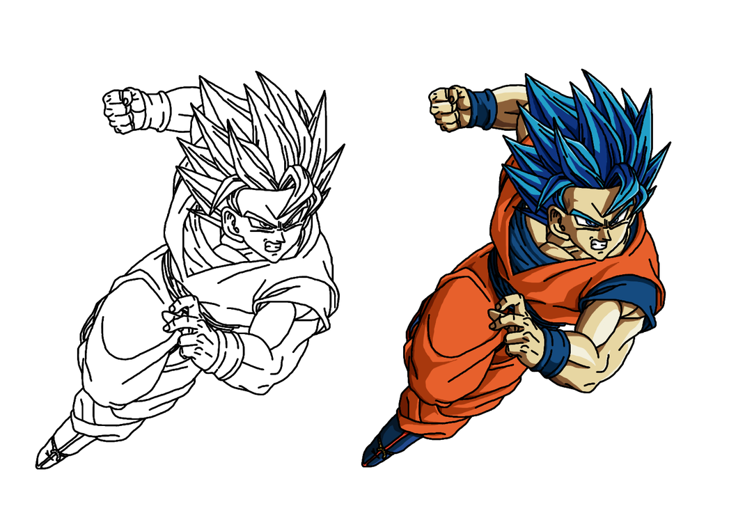 Drawing evolution goku. Beyond ssgss trace render