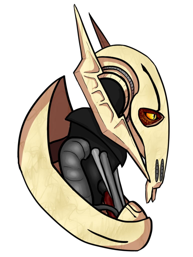 Shade drawing sci fi. General grievous by gragaza