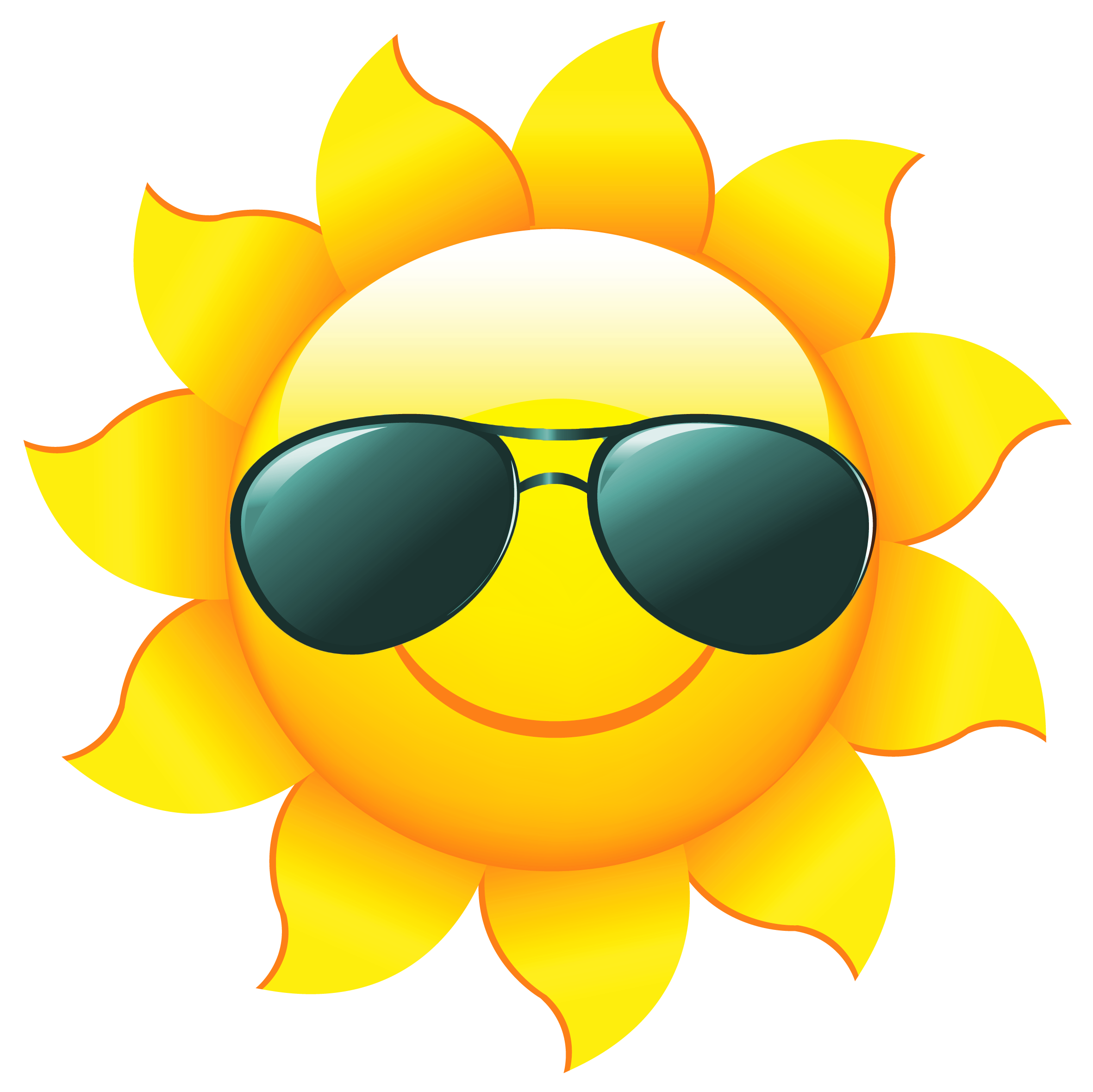 Transparent sunshine summer. Cropped sun clipart with
