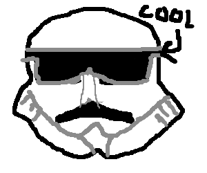 Shades drawing. A cool looking stormtrooper