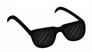 Shades drawing. Collection of glasses