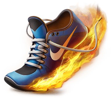 I like the fire. Shades drawing shoe graphic