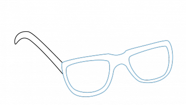 Shades drawing step by. How to draw sunglasses