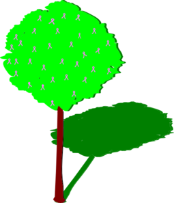 Tree with clip art. Shadow clipart graphic free stock