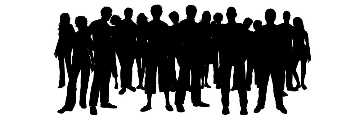 Shadow clipart crowd. Figure pencil and in