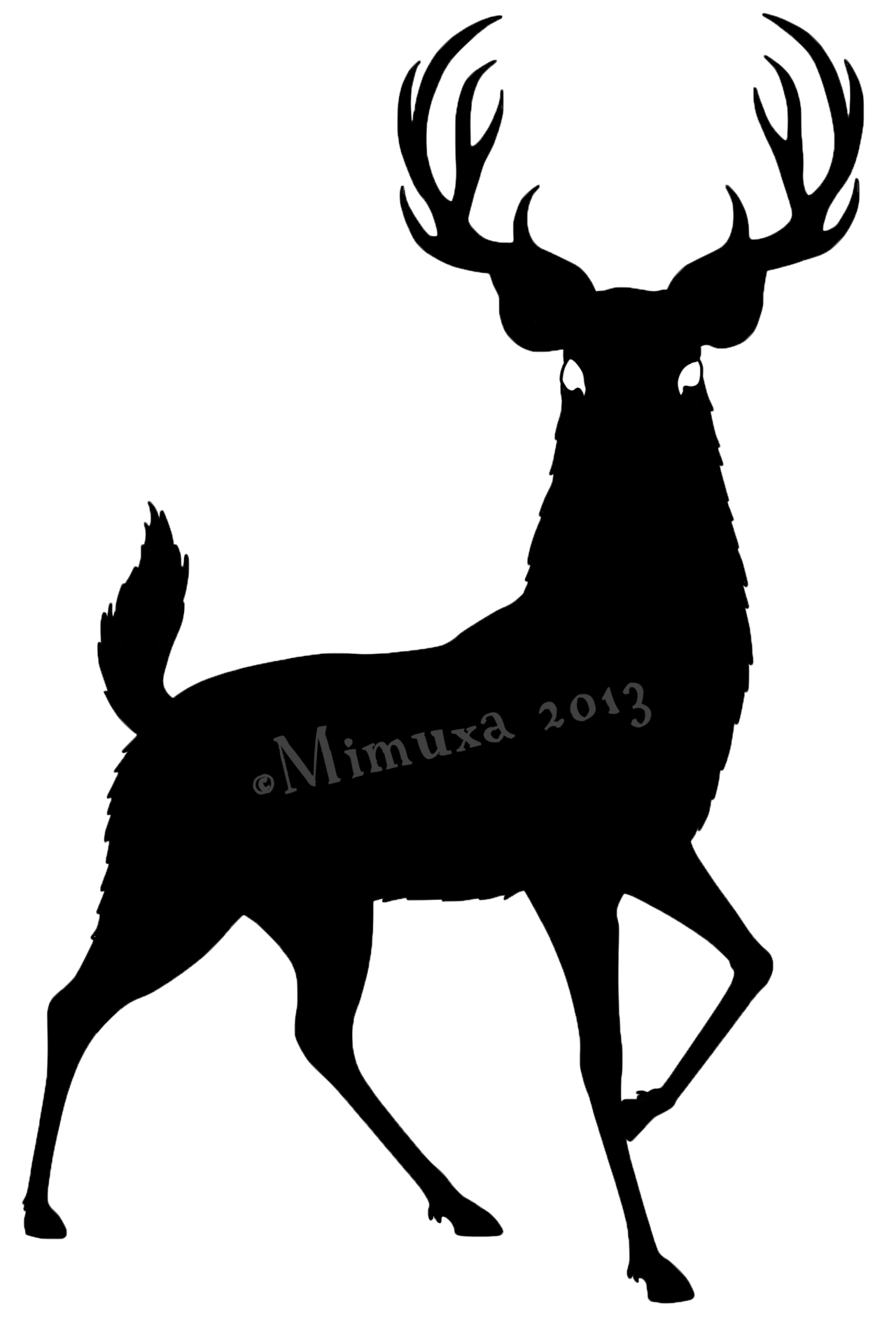 Stag vector deer face. Free silhouette download clip