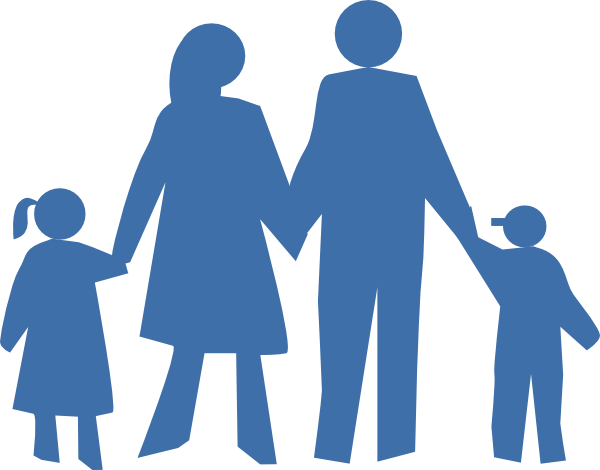 Shadow clipart family. Silhouette clip art at
