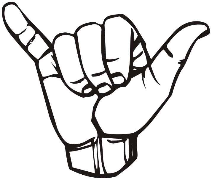Shaka drawing name. Sign language y wikipedia
