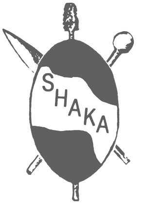 Product. Shaka drawing stencil picture black and white