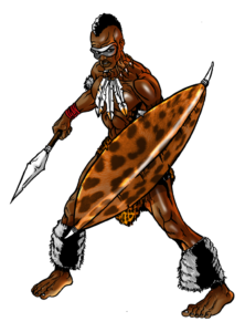 Shaka drawing zulu. Ghana based digital arts