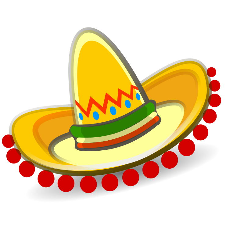 Vector sombrero hat spanish. Mexican clipart p north