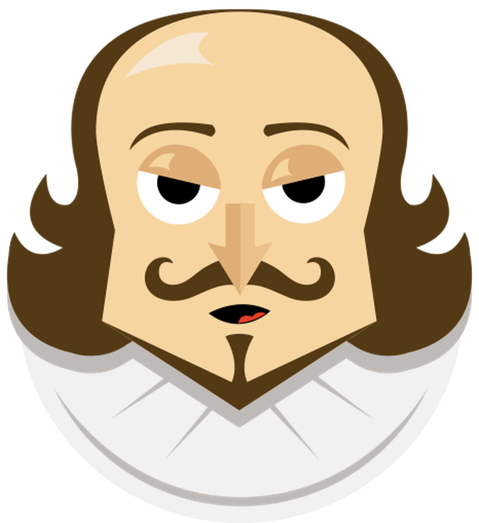Shakespeare transparent wink. To tweet or not