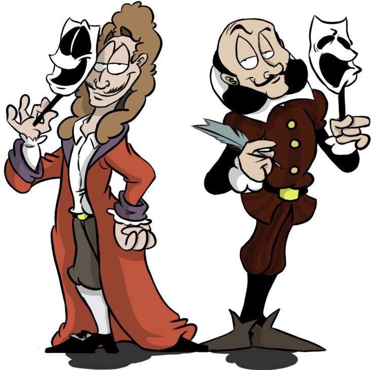 Shakespeare transparent art. Download hd image moliere