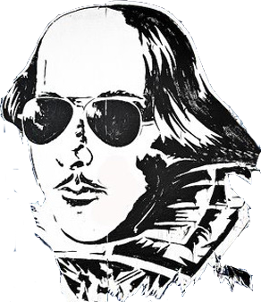 Shakespeare transparent shades. Beware the ides of