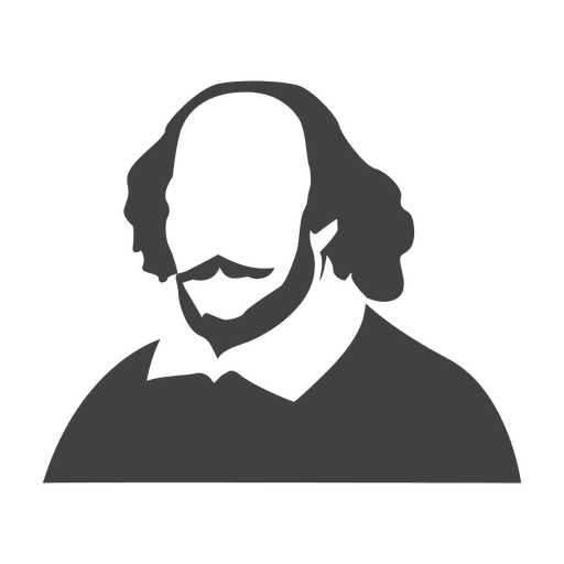 Shakespeare transparent silhouette. Png svg vector