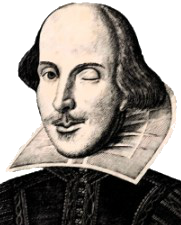 Shakespeare transparent wink. Brush up your with