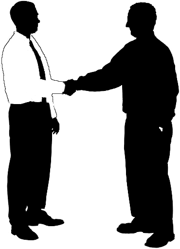 Business people silhouette png. Men shaking clipart clip