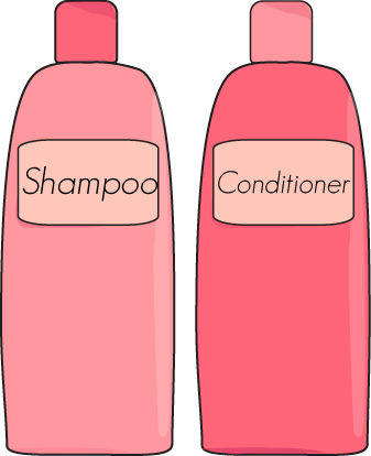 Shampoo clipart hair stuff. And conditioner clip art