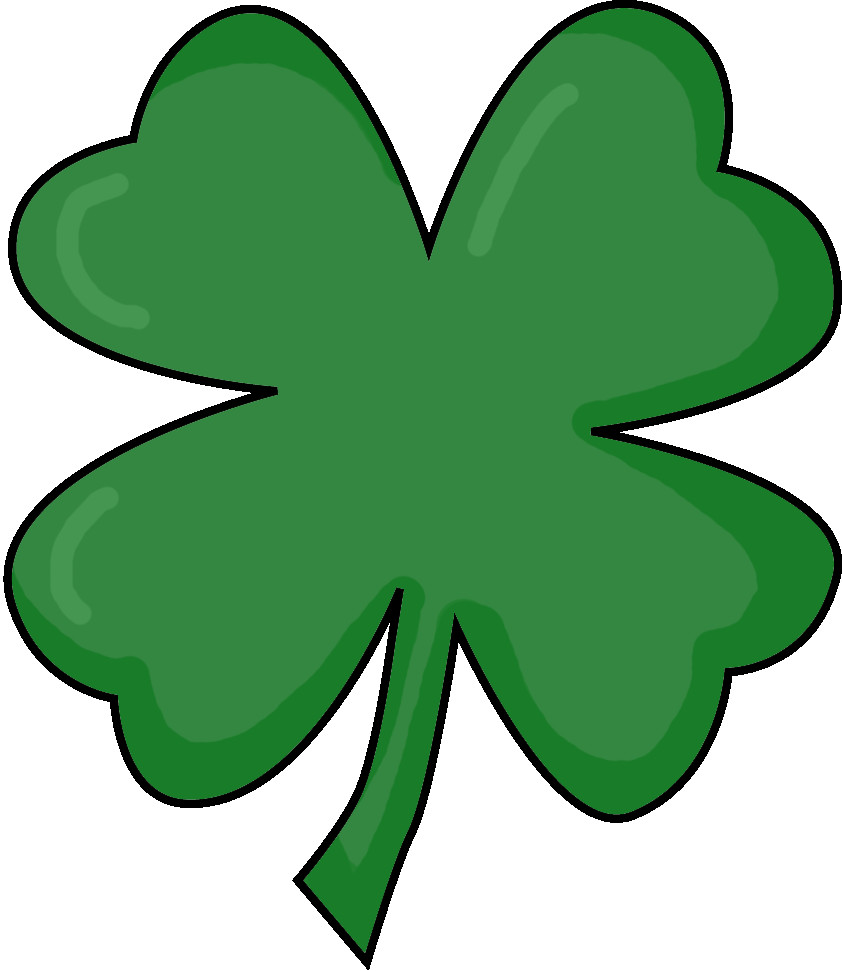 Clover clipart printable. Shamrock free at getdrawings