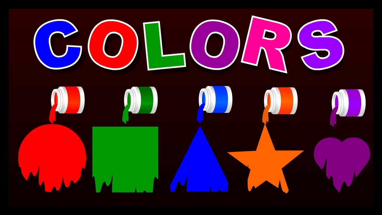 Shape clipart colorful. Colours and shapes for