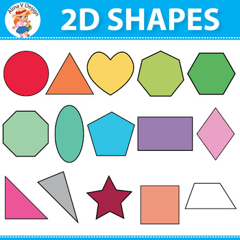 Shape clipart colorful. D by alina v