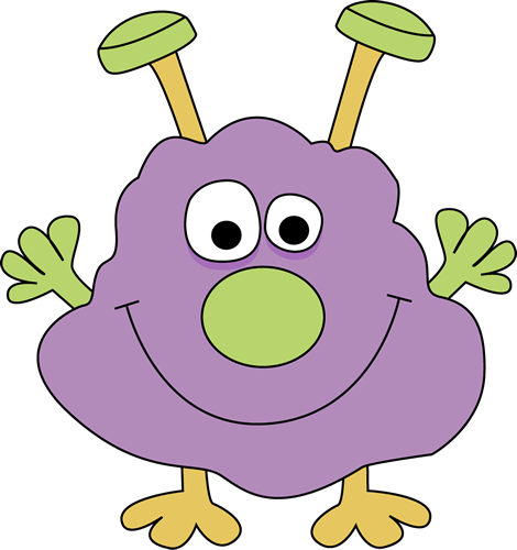 Shape clipart monster. Free cute clip art
