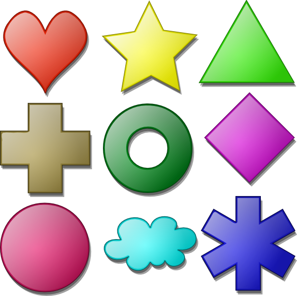 Shapes clipart. Game marbles clip art