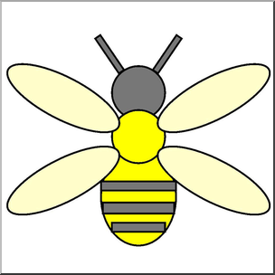 Shapes clipart bee. Clip art basic color