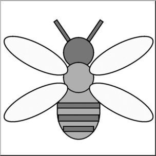 Shapes clipart bee. Clip art basic grayscale