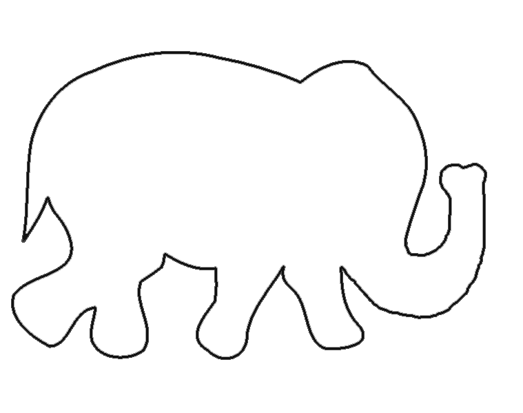 Shapes clipart elephant. Free templates when i