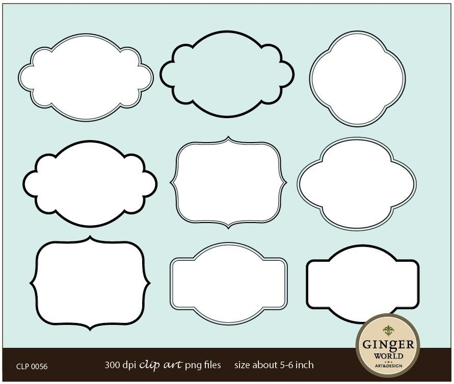 Shapes clipart label. Clip art labels frames